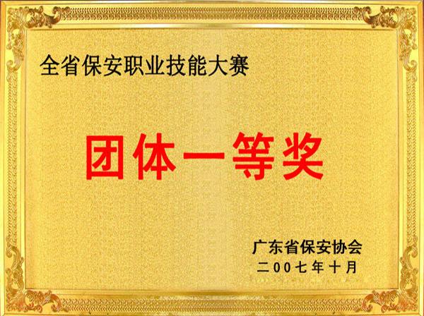 广东省消防技能团体一等奖
